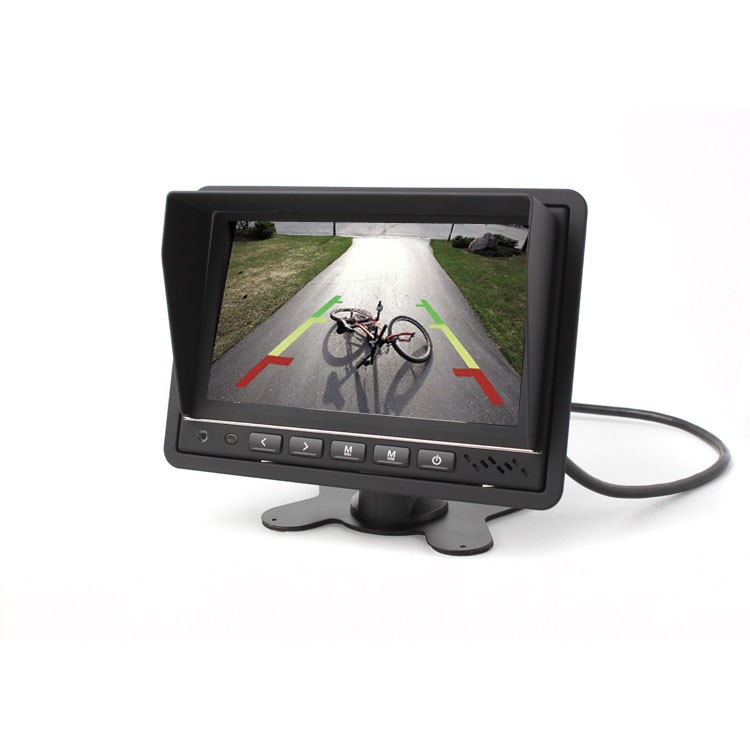 """Monitor 7"""" s DVR a nahrávaním na SD, TFT M07 BDVR"""