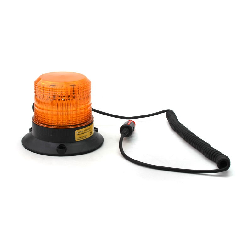 Xenon beacon, magnetic mount, 12-80V, amber 086-A