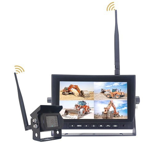 "AHD mobile monitor 7"" and camera wireless set, 4ch, 4split, 12/24V TFT7HDW"