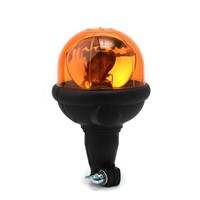 Rotating beacon for agricultural use, amber, flexi DIN pole mount without bulb, ECE R65.
