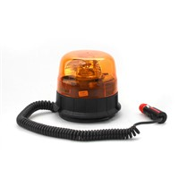 Warning rotating beacon, magnetic mount, R65, 12V, amber 310-A