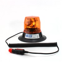 Rotating beacon for agricultural use, amber, magnetic mount without bulb, ECE R65.