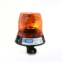 Rotating beacon, amber, DIN pole mount without bulb, ECE R65.