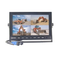 "AHD Monitor mobile 10"", 4ch, 4split, 4PIN, 1024x600, 12/24V TFT10HD4"