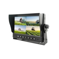 "AHD Monitor mobile 7"", 4ch, 4split, 4PIN, 1024x600, 12/24V TFT7HD4"