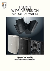 F Series wide-dispersion Speaker System - leták