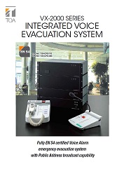 VX-2000 Series Integrated Voice Evacuation System - leták